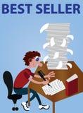 Συντάκτης πολυάσχολος στην εργασία ελεύθερη απεικόνιση δικαιώματος