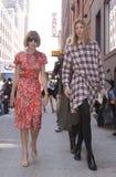 Συντάκτης Anna Wintour μόδας που φθάνει σε μια επίδειξη μόδας στη Νέα Υόρκη Στοκ Εικόνα