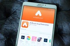 Συντάκτης app φωτογραφιών Airbrush Στοκ εικόνα με δικαίωμα ελεύθερης χρήσης