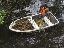 Συντήρηση και συντήρηση μιας λίμνης Στοκ Εικόνες