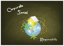 Συντήρηση περιβάλλοντος με τις εταιρικές έννοιες κοινωνικής ευθύνης Στοκ Εικόνες