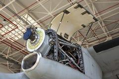 Συντήρηση στροβίλων μηχανών αεροσκαφών Στοκ Φωτογραφία