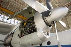 Συντήρηση στροβίλων μηχανών αεροσκαφών Στοκ φωτογραφία με δικαίωμα ελεύθερης χρήσης