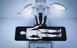Συντήρηση AI χειρουργικών επεμβάσεων ρομπότ cyborg Ελεύθερη απεικόνιση δικαιώματος