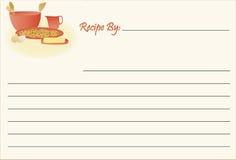 συνταγή μπισκότων καρτών Στοκ εικόνες με δικαίωμα ελεύθερης χρήσης