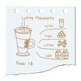 Συνταγή ποτών καφέ στοκ εικόνες με δικαίωμα ελεύθερης χρήσης