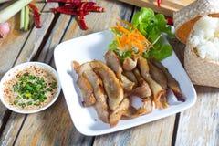 Συνταγή ψητού και σάλτσας χοιρινού κρέατος της Ταϊλάνδης Στοκ φωτογραφία με δικαίωμα ελεύθερης χρήσης