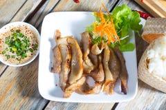 Συνταγή ψητού και σάλτσας χοιρινού κρέατος της Ταϊλάνδης Στοκ Εικόνες