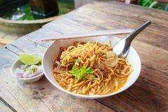 Συνταγή Soi Khao Στοκ Εικόνες