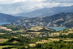 Συνταγματάρχης-Άγιος-Jean (Γαλλία), τοπίο βουνών στοκ εικόνες