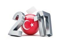 Συνταγματικό δημοψήφισμα στην Τουρκία σε μια άσπρη τρισδιάστατη απεικόνιση 2017 υποβάθρου Στοκ Φωτογραφία