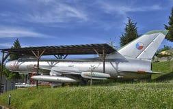 Συνταξιούχο Sukhoi SU-7 στρατιωτικό αεροπλάνο Στοκ εικόνες με δικαίωμα ελεύθερης χρήσης
