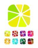 Συντετριμμένα αφηρημένα στρογγυλά λογότυπα σχεδίου ορθογωνίων Στοκ φωτογραφία με δικαίωμα ελεύθερης χρήσης