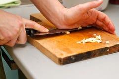 Συντετριμμένο σκόρδο Στοκ εικόνα με δικαίωμα ελεύθερης χρήσης