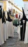 Συντεχνίες Triana, ιερή εβδομάδα στη Σεβίλη, Ανδαλουσία, Ισπανία στοκ εικόνα με δικαίωμα ελεύθερης χρήσης
