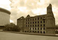 Συντηρημένος από το δεύτερο παγκόσμιο πόλεμο το κτήριο στοκ εικόνα