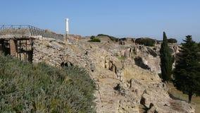 Συντηρημένος παραμένει των κτηρίων στην πόλη της Πομπηίας, Νάπολη, Ιταλία που παρουσιάζεται στη σειρά φιλμ μικρού μήκους