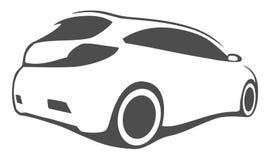 Συντονίζοντας σκιαγραφία αυτοκινήτων Στοκ Εικόνα