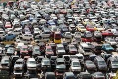 Συντρίμμια αυτοκινήτων στο junkyard Στοκ Φωτογραφία