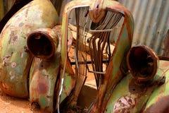 συντρίμμια αυτοκινήτων Στοκ Φωτογραφίες