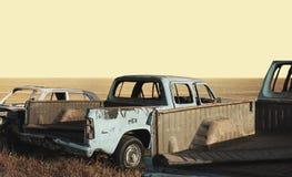 συντρίμμια αυτοκινήτων Στοκ Φωτογραφία
