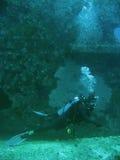 συντρίμμια βυθού σκαφάνδρων εξερευνητών δυτών στοκ εικόνες με δικαίωμα ελεύθερης χρήσης