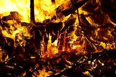 συντρίμμια καψίματος Στοκ φωτογραφία με δικαίωμα ελεύθερης χρήσης