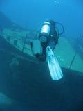 συντρίμμια σκαφών σκαφάνδρων δυτών στοκ φωτογραφία με δικαίωμα ελεύθερης χρήσης