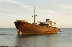 Συντρίμμια σκαφών, Arrecife, Lanzarote Στοκ φωτογραφία με δικαίωμα ελεύθερης χρήσης