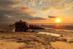 Συντρίμμια στην παραλία aru Tanjung, Labuan Μαλαισία 01 Στοκ Εικόνες