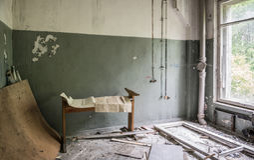 Συντρίμμια στο τεχνικό δωμάτιο σε Pripyat Στοκ φωτογραφία με δικαίωμα ελεύθερης χρήσης
