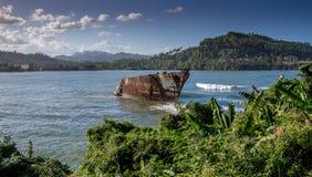 Συντρίμμια Baracoa Κούβα σκαφών Στοκ Εικόνα