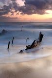 Συντρίμμια Dicky στην ανατολή Στοκ Εικόνες