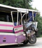 Συντριβή λεωφορείων Στοκ Εικόνα