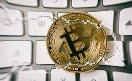 Συντριβή & x28 Bitcoin bubble& x29  Crypto διαφημιστική εκστρατεία νομίσματος στοκ φωτογραφία με δικαίωμα ελεύθερης χρήσης