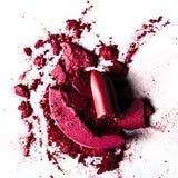 συντριμμένα προϊόντα σύνθεσης - ομορφιά και ορισμένη καλλυντικά έννοια στοκ φωτογραφίες