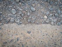 Συντριμμένοι βράχος και σκυρόδεμα Στοκ Εικόνες