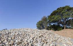 Συντριμμένος σωρός βράχου για την κατασκευή στοκ φωτογραφία με δικαίωμα ελεύθερης χρήσης
