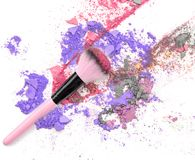 συντριμμένο ανασκόπηση λευκό σκιών ματιών makeup Οι σκιές ματιών Στοκ Εικόνες