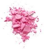 Συντριμμένο ροζ καλλυντικό Στοκ Εικόνα