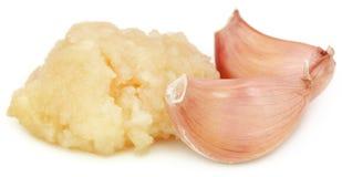 Συντριμμένο σκόρδο με ολόκληρα Στοκ φωτογραφία με δικαίωμα ελεύθερης χρήσης