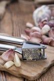 Συντριμμένο σκόρδο Στοκ φωτογραφία με δικαίωμα ελεύθερης χρήσης