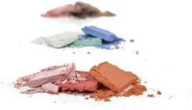 Συντριμμένο τρίο σκονών makeup Στοκ εικόνες με δικαίωμα ελεύθερης χρήσης