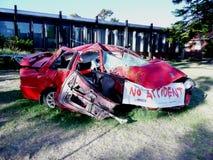 Συντριφθε'ν αυτοκίνητο στην Αυστραλία στοκ φωτογραφίες