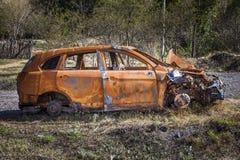 Συντριφθε'ν αυτοκίνητο Στοκ εικόνες με δικαίωμα ελεύθερης χρήσης