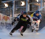 Συντριφθε'ν το Red Bull τρίο ανταγωνισμού πάγου Στοκ Φωτογραφία