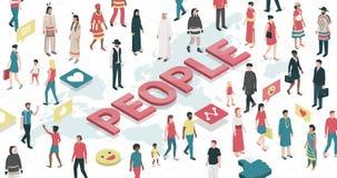 Συνδέοντας άνθρωποι από όλο ο κόσμος απεικόνιση αποθεμάτων