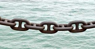 Συνδέσεις αλυσίδων ενάντια στο νερό Στοκ Εικόνα