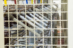 Συνδέσεις θρυαλλίδων των τραπεζών πυκνωτών Στοκ εικόνες με δικαίωμα ελεύθερης χρήσης