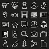 Συνδέσεις δικτύων στο μαύρο υπόβαθρο Στοκ Φωτογραφίες